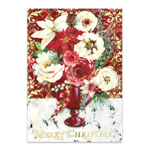 winter roses boxed holiday cards