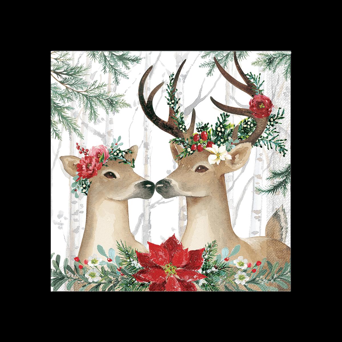 Deer Cheer Holiday Luncheon Napkins Punch Studio