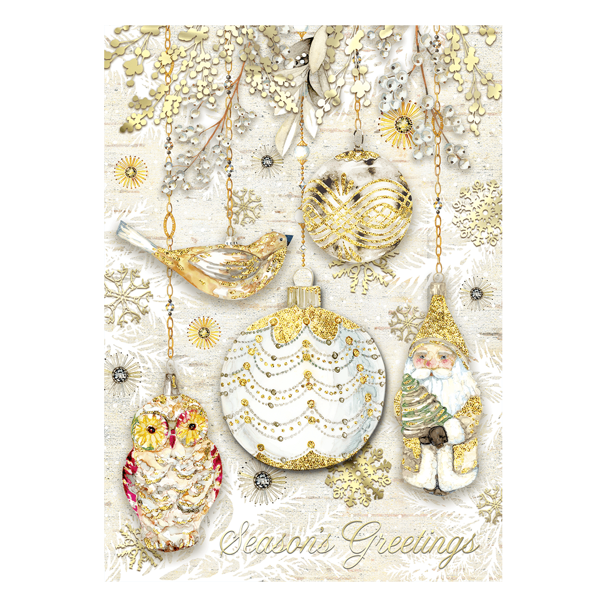 golden glow boxed holiday cards punch studio