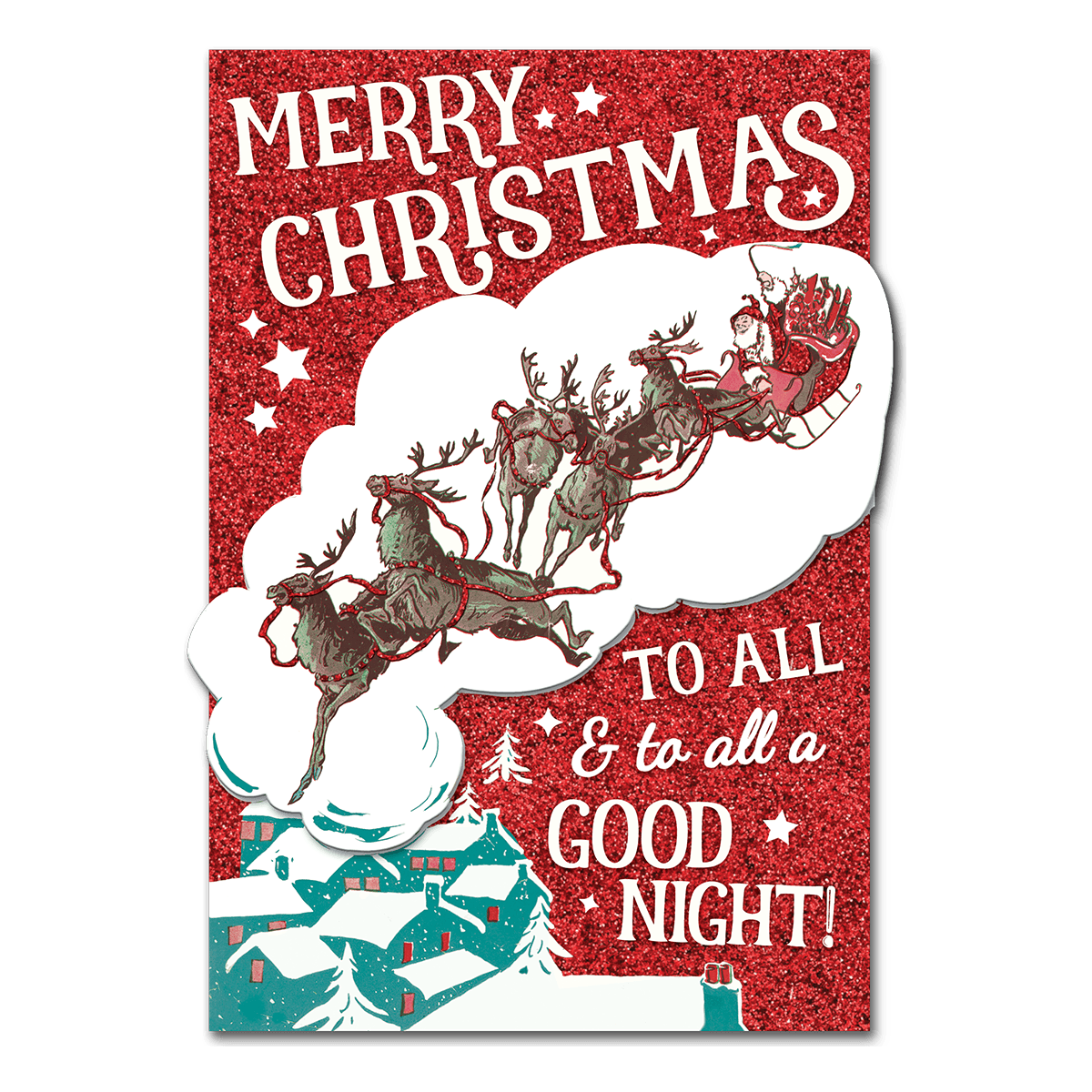 Retro Sky Santa Boxed Christmas Cards | Punch Studio