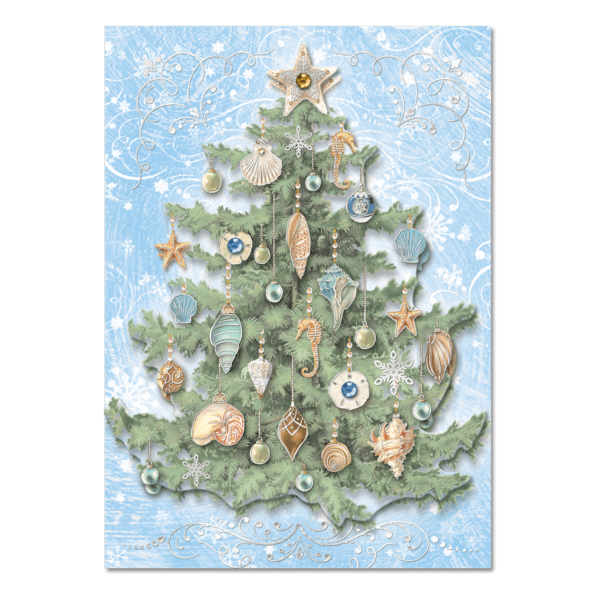 Shell tree dimensional holiday greeting cards punch studio shell tree dimensional holiday greeting cards m4hsunfo