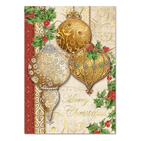 Gold ornaments dimensional holiday greeting cards punch studio gold ornaments dimensional holiday greeting cards m4hsunfo