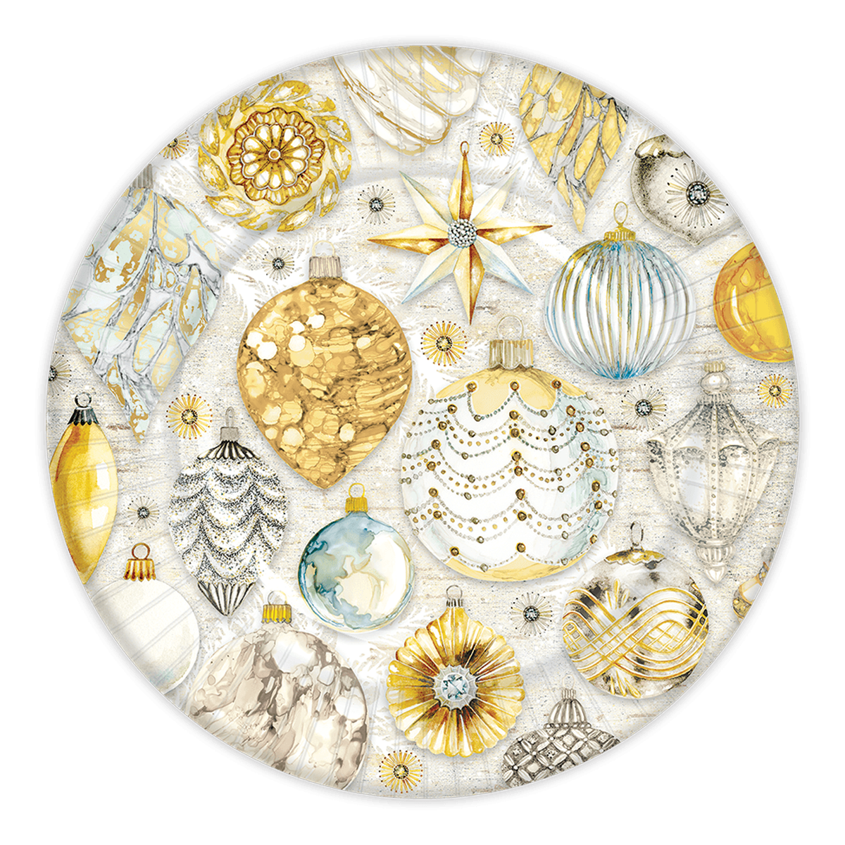 Golden Glow Holiday Dinner Plates  sc 1 st  Punch Studio & Golden Glow Holiday Dinner Plates | Punch Studio