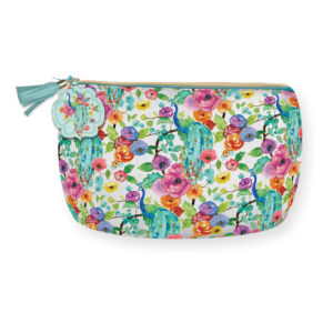 Wildflowers Faux Leather Cosmetic Bag