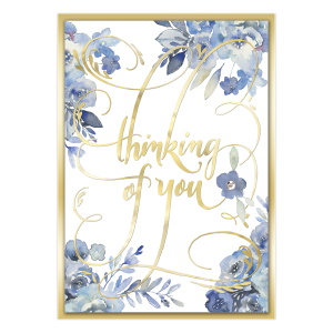 Blue Floral Thinking of You Card Product