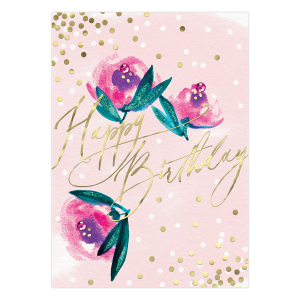 Pink Roses Birthday Card Product