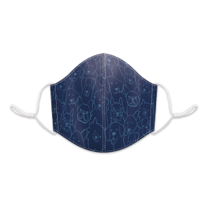Navy Line Dogs Reusable 3-Layer Cotton Face Mask Product