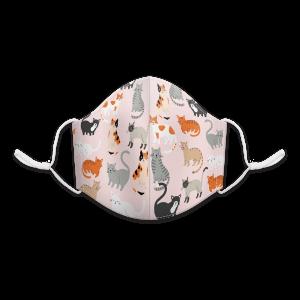 Cat Mix Pink Reusable 3-Layer Cotton Face Mask Product
