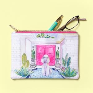 Florette Bee Sienna Velvet Brooch Bag