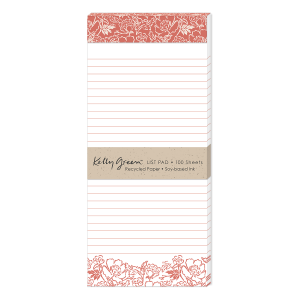 Natural Line Floral Magnetic List Pad Product