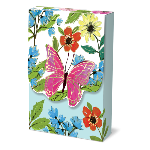 Full Bloom Butterfly Pouch Note Cards Product