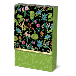 Full Bloom Black Pouch Note Cards Product