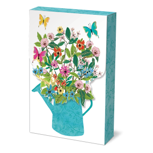 Full Bloom Watering Can Pouch Note Cards Product