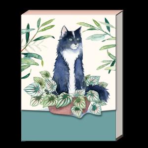 Houseplant Black Cat Pocket Notepad Product
