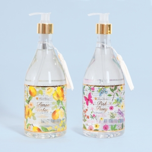 Black Gold Floral Hand Soap