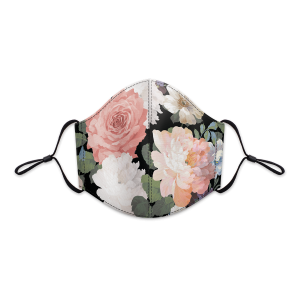Evening Floral Reusable 3-Layer Cotton Face Mask Product